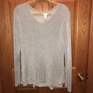 Stunning Silver Chico's sweater
